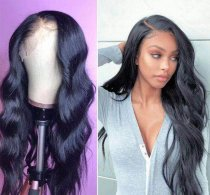 Ulovewigs Human Virgin Hair Black Wave Pre Plucked Lace Front Wig And Full Lace Wig For Black Woman Free Shipping (ULW0110)