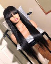 Ulovewigs Human Virgin Hair  Pre Plucked Lace Front Wig And Full Lace Wig For Black Woman Free Shipping (ULW0139)