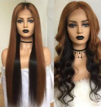 Ulovewigs Human Virgin Hair Pre Plucked Lace Front Wig And Full Lace Wig For Black Woman Free Shipping (ULW0165)