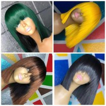 Ulovewigs Human Virgin Hair Pre Plucked Lace Front Wig And Full Lace Wig Free Shipping (ULW0346)