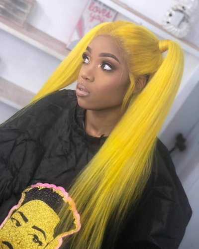 Ulovewigs Human Virgin Hair Yellow Pre Plucked