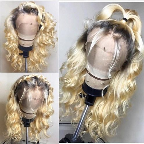 Ulovewigs Human Virgin Hair Pre Plucked Lace Front Wig &Full Lace Wig For Black Woman Free Shipping(ULW0085)