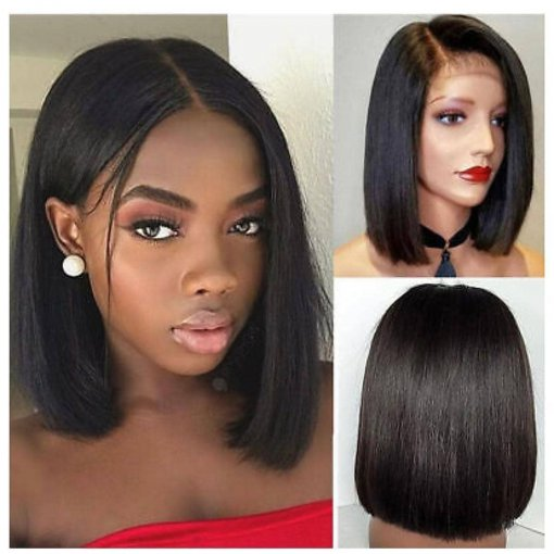 Ulovewigs Pre Plucked Human Virgin Hair black bob wigs (ULW0011)