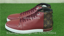 Louis Vuitton Low Top Sneaker Red Leather