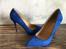 Christian Louuboutin High Heels Blue Suede 12cm