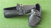 Louis Vuitton Black Damier Embossed Calf Leather Loafers Shoes