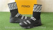 Fendi FF Print Sock Boot Sneakers Black
