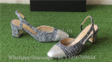 Chanel Slingback Block-Heel Pumps