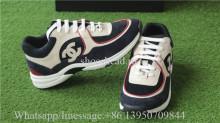 Chanel Sneaker Cream Navy Blue Suede