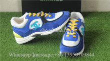Chanel Sneaker Blue Suede Yellow White