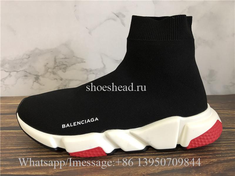 Balenciaga Speed Trainer Sock Black Red
