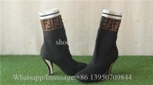 Fendi Rockoko Knit Ankle Sock Boots