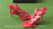 Giuseppe Zanotti Patent Winged Sandal Red High Heels