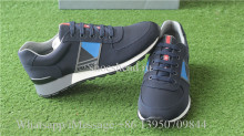 Prada Leather & Blue Nylon Running Sneakers