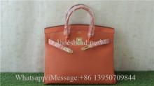 Hermes Orange Handbag