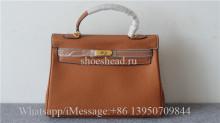 Hermes Orange Leather Bag