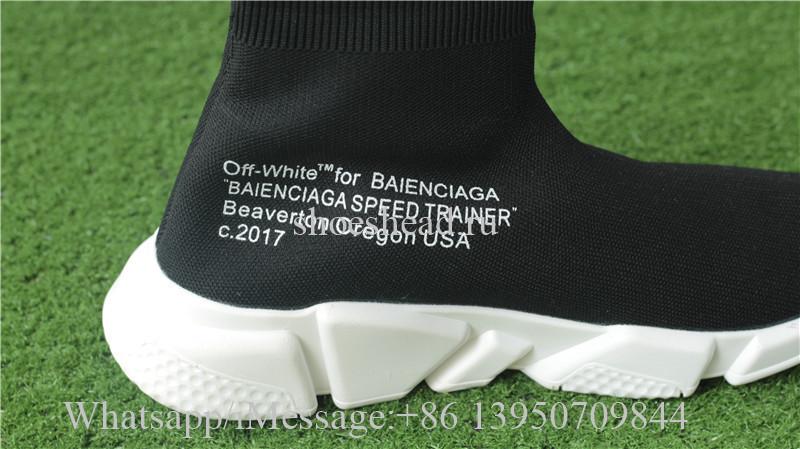 Off White x Balenciaga Speed Trainer