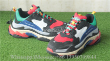 Balenciaga Washed Old Show Sneaker Red Black Blue