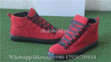 Balenciaga Arena Sneaker Red Suede