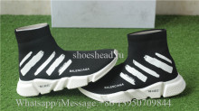 Off White x Balenciaga Speed Trainer Sock Black