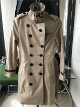 Burberry Windbreaker Coats Khaki With Belt
