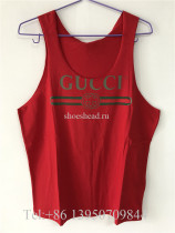 Gucci Printed Cotton Jersey Tank Red