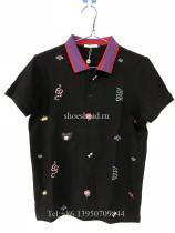 Gucci Black Cotton Polo Shirt