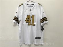 41 Alvin Kamara Limited White Rush Vapor Untouchable NFL Jersey