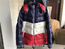 Moncler Down Coat Blue White Red
