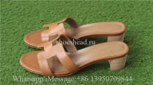 Hermes Gold Calfskin Leather Oasis Sandals