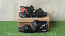 Off White Nike Air VaporMax Sandals Black