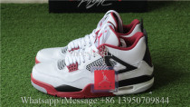 Authentic Air Jordan 4 Retro Fire Red