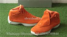 Authentic Air Jordan 18 Retro Orange Suede Pack