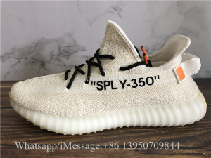 Off White x Adidas Yeezy Boost 350 V2 Cream Beige