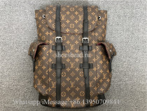 Louis Vuitton Christopher Monogram Macassar PM Brown Backpack