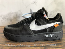 Off White x Nike Air Force 1 OG Black