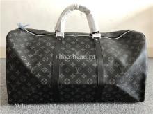 Louis Vuitton Black Leather Travel Bag