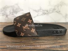 Louis Vuitton Monogram Brown Waterfront Mule Slides