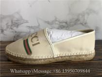 Gucci Leather-Trimmed Logo-print Canvas Espadrilles Shoes