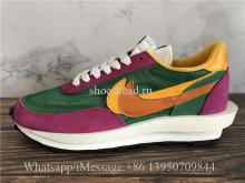 Sacai x Nike LVD Waffle Daybreak Pine Green Clay Orange