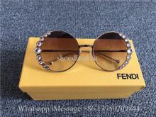 Fendi Sunglasses Lunettes Ribbon And Crystal