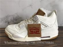 Levis x Air Jordan 4 Denim White