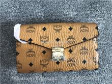 MCM Cognac Visetos Millie Crossbody Bag
