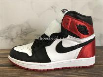 Air Jordan 1 Retro Satin Black Toe