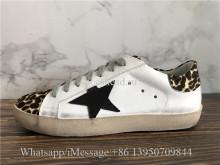 GGDB Golden Goose Super Star Sneaker Leopard Leather