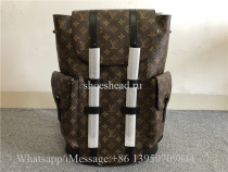 Original Louis Vuitton Christopher Monogram Macassar PM Brown Backpack