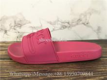 Gucci Rose Pink Boutique Gucci Logo Rubber Slide Sandal