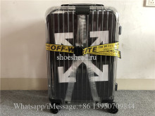 Luggage Rimowa x Off-white Transparent 21 inch Rolling Luggage Carry on Suitcase