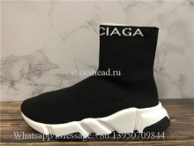 Balenciaga Logo Speed Sock Sneaker Black