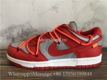 Off White x Nike Dunk Low University Red